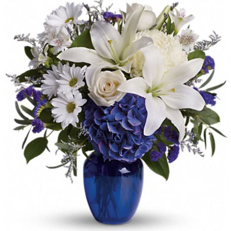 Floral Arrangements - Beautiful in Blue Floral Arrangement
